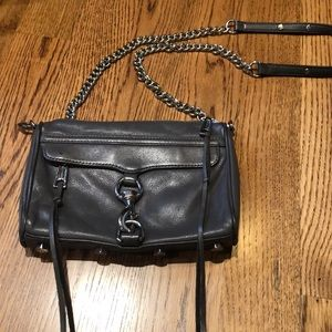 Rebecca Minkoff Grey Leather MAC Crossbody
